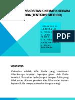 Penentuan Viskositas Kinematik Secara Coba-coba (Tentaive Method)