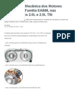 Técnicas Distribuição Mecânica Dos Motores Volkswagen Família EA888, Nas Configurações 2.0L e 2.5L TSI