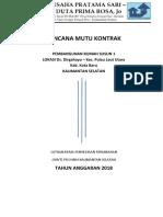 Rencana Mutu Kontrak - Pcm Rusun Kota Baru