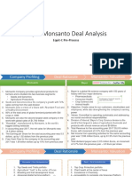 Bayer-Monsanto Deal Analysis