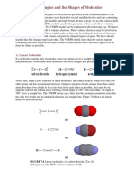 Bond Angles and the Shapes of Molecules