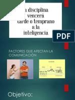 Tema 2.4 Factores Que Afectan La Comunicación