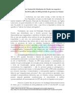 Nota da Federação Nacional de Estudantes de Direito em resposta à declaração dada no dia 20 de julho de 2019 pela líder do governo na Câmara