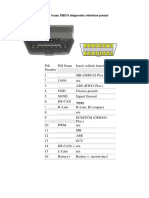 Isuzu OBD II Diagnostic Interface Pinout