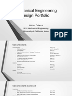 mechanical engineering design portfolio