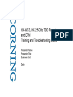 HX-WCS HX-2.5GHz TDD Remote and EPM Training and Troubleshooting Guide_...