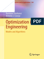Optimization in Engineering  Models and Algorithms