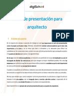 Carta de Presentación para Arquitectos