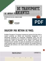 Método de Transporte y Sus Variantes