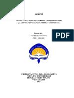 Potensi Pektin Kulit Pisang Kepok (Musa Paradisiaca Forma Typica) Untuk Menyerap Logam Berat Kadmium (CD)