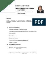 Curriculum Vitae Madeleyde Mayo c.