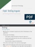 Testing Angular