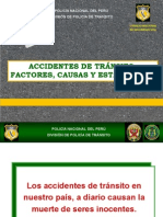 Accidentes de tránsito causas y estadísticas