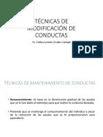 Clase Técnicas de Modificación de Conductas2