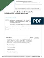 """Realizar Evaluación_ Evidencia_ Evaluación """"La Enseñanza y Los.."""