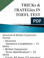 Tricks & Strategies in TOEFL Test-2