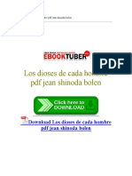 Los Dioses de Cada Hombre PDF Jean Shinoda Bolen