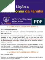 4 - A mordomia da família