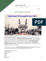 Whatsappgrouplink.org-Hyderabad Whatsapp Group Links
