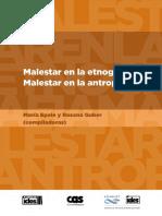 Malestar en La Etnografia Malestar en La Antropologia Epele y Guber