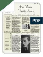 Newsletter Volume 10 Issue 26