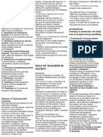 Characteristics of Teaching