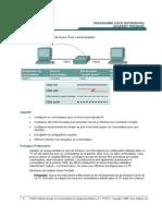 TP 6.2.2 Configuration de base d'un commutateur
