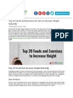 Top Exercises to Gain Height 20 Foods and Exercises