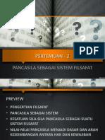 PART 2 Pancasila Sebagai Sistem Filsafat