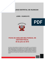 Análisis Multianual Municipalidad de Huancan