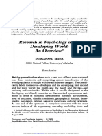 Research in Psychology in Developing world