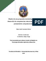 Diseño de una propuesta metodológica para el desarrollo de competencias relacionadas con el pensamiento computacional