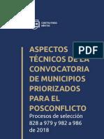 Cartilla 018 Municipios Priorizados Para El Posconflicto