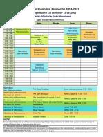 Horario Curso Propedéutico ME 2019-2021