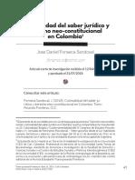 Colonialidad Del Saber Jurídico en Colombia_tf