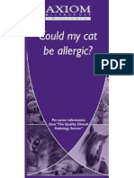 Allergy Client Leaflet - Could My Cat Be Allergic