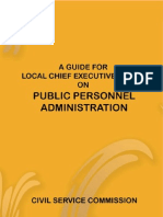 A Guide for Local Chief Executives on Public Personnel Admin