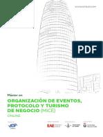 Organización de Eventos (MICE) ONLINE