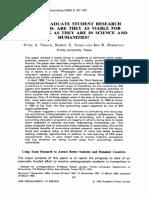 02 Peter a French; Robert E Jensen; Kim R Robertson -- Undergraduate Student Research Programs