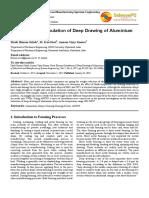 Finite Element Simulation of Deep Drawing of Aluminium Alloy Sheets