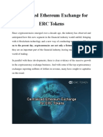 Centralized Ethereum Exchange for ERC Tokens