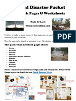 Natural Disaster Worksheets Notebook Pages and Hands-On Activities - Update 4