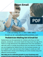 Pediatricians Email List | Pediatricians Mailing List in USA