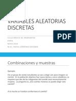 Variables Discretas (ESTADISTICA)
