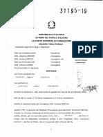 Corte di Cassazione, Sezione Penale III, Sentenza 31105 del 2019