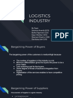 Logistic Industry - Porter's Five Forces