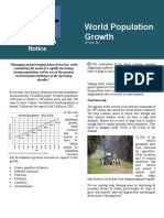 World Population Growth- Conservation Notice