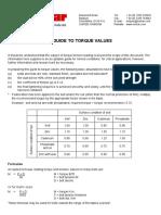 Torque value guide