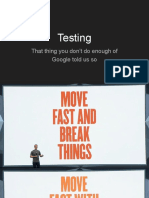 Lecture 02 - Testing