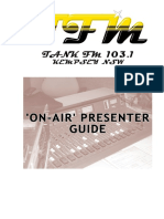 On-Air Presenter Guide